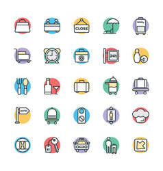 Hotel and Restaurant Cool Icons 4 vector image