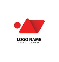 Human logo full color template design vector