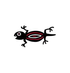 iguana icon aztec vector image