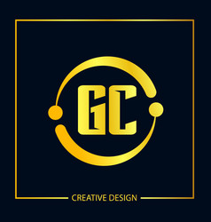 initial letter gc logo template design vector image
