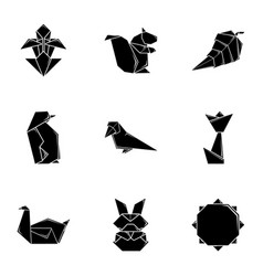 Isoline icons set simple style vector