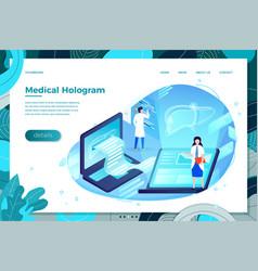 liver health hologram vector image