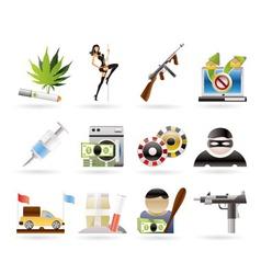 Mafia and organized criminality activity vector