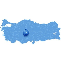 Map of Turkey Aksaray vector