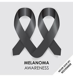melanoma ribbon vector image