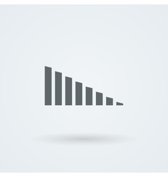 Minimalistic icons volume or equalizer vector image