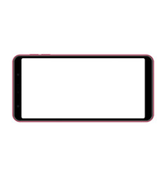 Mobile phone with blank horizontal screen vector