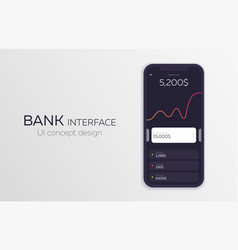mobile ui design concept bank interface vector image