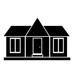 Modern country house icon simple style vector image
