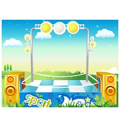 Music Stage Background vector image