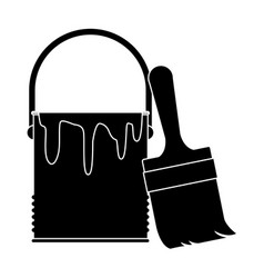 paint bucket isolated vector image