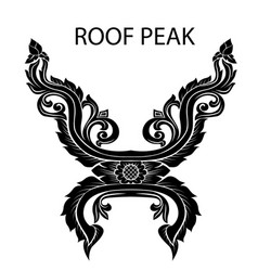 Peak of thai or asia roof vector