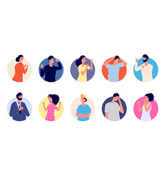 people emotional avatars different gestures vector image