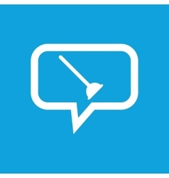 Plunger message icon vector
