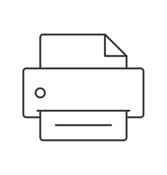 Printer thin line icon vector