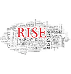 Rise word cloud concept vector