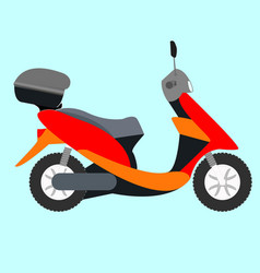 scooter icon of a colorful vector image