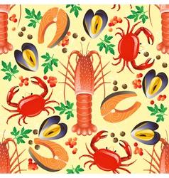 sea food seamless vector image