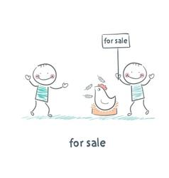 Selling chicken vector