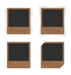 Set of vintage photo vector image