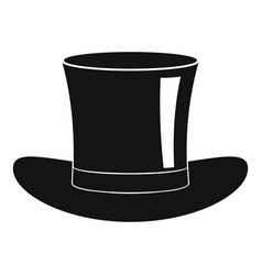 Silk hat icon simple style vector