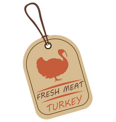 string tag meat label turkey vector image