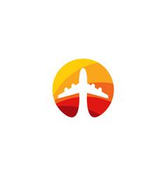 sun travel logo icon design vector image