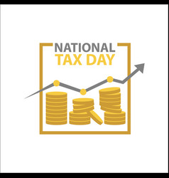 tax day template design vector image