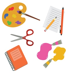 tools for school and hobby vector image