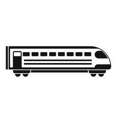 Train icon simple style vector image
