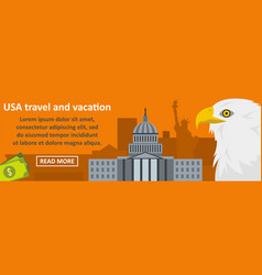 usa travel and vacation banner horizontal concept vector image