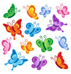 various butterflies collection 1 vector image