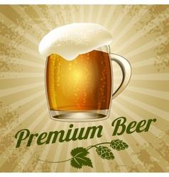 beer poster vector image