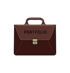 briefcase portfolio icon vector image vector image
