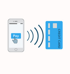 mobile pay concept vector image vector image