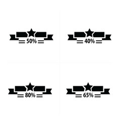 price tags set and star vector image