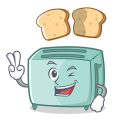 two finger toaster character cartoon style vector image vector image