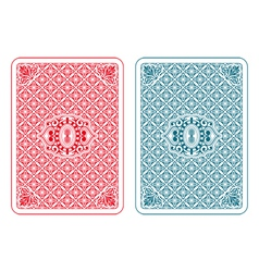 Playing cards back beta vector