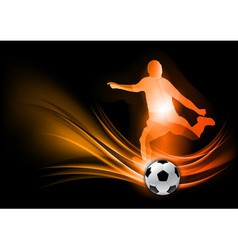 soccer player abstract red vector image