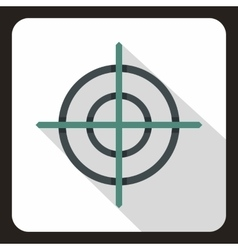Target crosshair icon flat style vector image