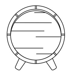 wooden barrel on rack icon outline style vector image