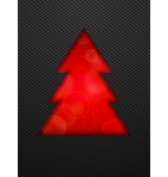 Creative christmas tree cut in black background vector