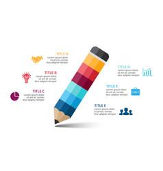 pencil infographic education diagram vector image