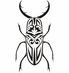 tribal stag beetle tattoo vector image