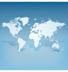 World map with shadow 3d concept vector image vector image