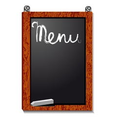 Empty menu board vector image vector image