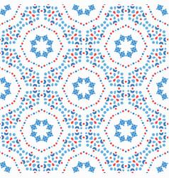 flower pattern blue boho background vector image