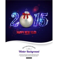 Happy New Year 2015 celebration concept with vector image vector image