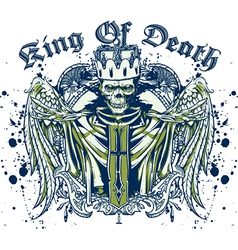 King of death skull vector image vector image