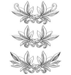 laurel wreaths vector image